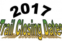 2017 Trail Closing Dates
